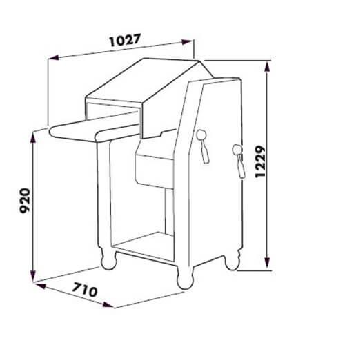Схема шкуросъемной машины Dadaux ADW400