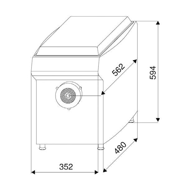Схема мясорубки Dadaux Microlite