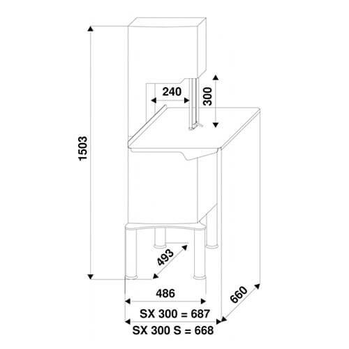 Схема пилы SX300S
