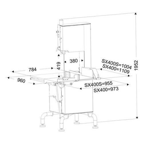 Схема пилы Dadaux SX400
